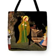 Christmas Crib Scene Tote Bag