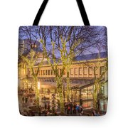 Christmas Crowd At Quincy Market Tote Bag