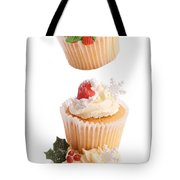 Christmas Cupcake Tower Tote Bag