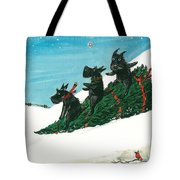 Christmas Day Scottie Style Tote Bag