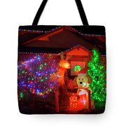 Christmas Decorations At Residential Tote Bag