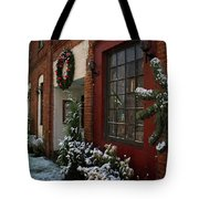Christmas Decorations In Grants Pass Old Town  Tote Bag