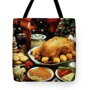 Christmas Dinner Tote Bag
