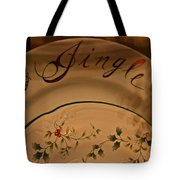 Christmas Dinnerware Tote Bag