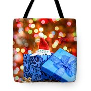 Christmas Dog In Box Tote Bag