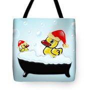 Christmas Ducks Tote Bag