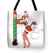 Christmas Elf Cleo Tote Bag by Renate Janssen