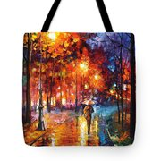 Christmas Emotions - Palette Knife Oil Painting On Canvas By Leonid Afremov Tote Bag