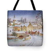 Christmas Eve In The Village  Tote Bag