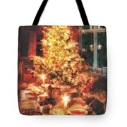 Christmas Eve Tote Bag by Mo T