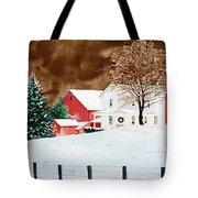 Christmas Farm Tote Bag