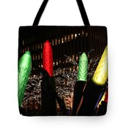 Christmas Festive In New York City Tote Bag