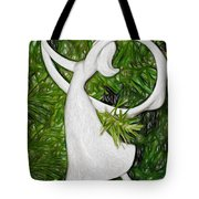Christmas Figure Skater Tote Bag
