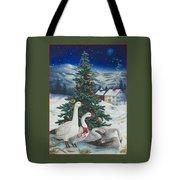 Christmas Geese Tote Bag