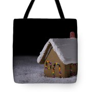 Christmas Gingerbread Cottage At Night Tote Bag