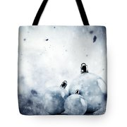 Christmas Glass Balls On Winter Vintage Background Tote Bag