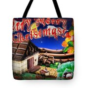 Christmas Greeting Card Iv Tote Bag