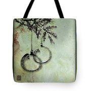 Christmas Greeting Card With Ink Brush Drawing Tote Bag