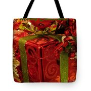 Christmas Greeting Tote Bag