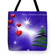 Christmas Hearts Tote Bag
