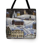 Christmas In Fox Creek Village Tote Bag by Catherine Holman