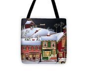 Christmas In Holly Ridge Tote Bag