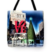 Christmas In Philadelphia Tote Bag by Bill Cannon