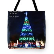 Christmas In The Air Tote Bag