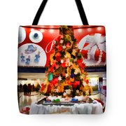 Christmas In The Train Station Tote Bag