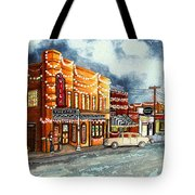 Christmas In Villa Rica 1950's Tote Bag