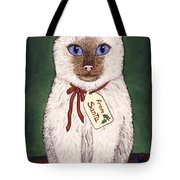 Christmas Kitten Tote Bag