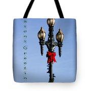 Christmas Lamp Post Grn 2013 Tote Bag