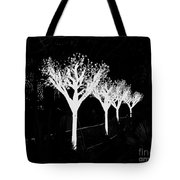 Christmas Lights In Black And White Tote Bag