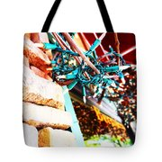 Christmas Lights In Window Tote Bag