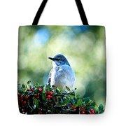 Christmas Mockingbird Tote Bag