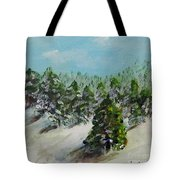 Christmas Mountain Tote Bag