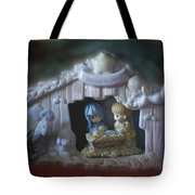 Christmas Nativity Scene Tote Bag