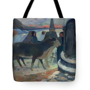 Christmas Night Blessing Of The Oxen Tote Bag
