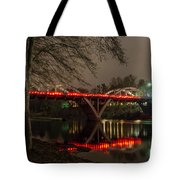 Christmas On Caveman Bridge Tote Bag