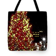 Christmas On Public Square Three Tote Bag