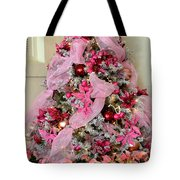 Christmas Pink Tote Bag