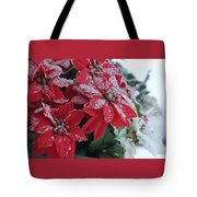 Christmas Poinsettia Flowers Tote Bag