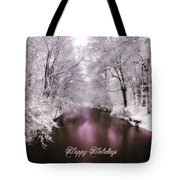 Christmas Pond Tote Bag