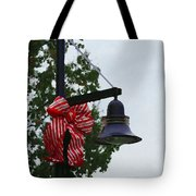 Christmas Post And Bow Tote Bag