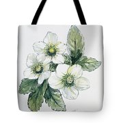 Christmas Rose Tote Bag