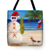 Christmas Sandman Tote Bag by Jamie Frier