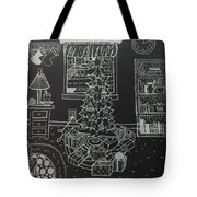 Christmas Scene Tote Bag