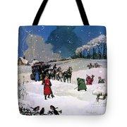 Christmas Scene Tote Bag