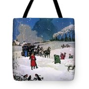 Christmas Scene Tote Bag by English School