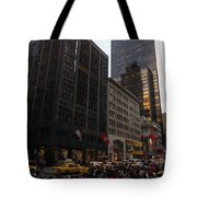 Christmas Shopping On The World Famous Fifth Avenue Tote Bag